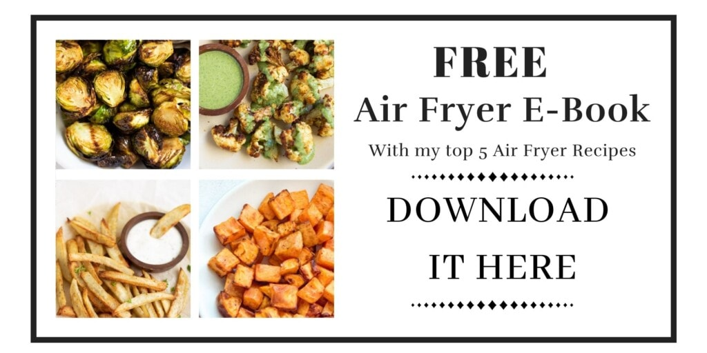 Free air fryer ebook with 5 recipes download