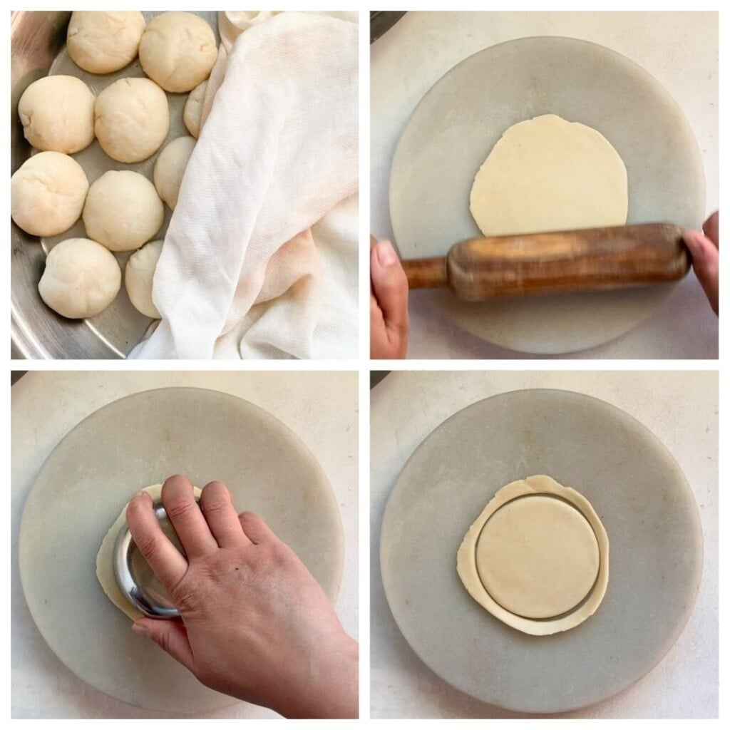Roll the roti for ghughra