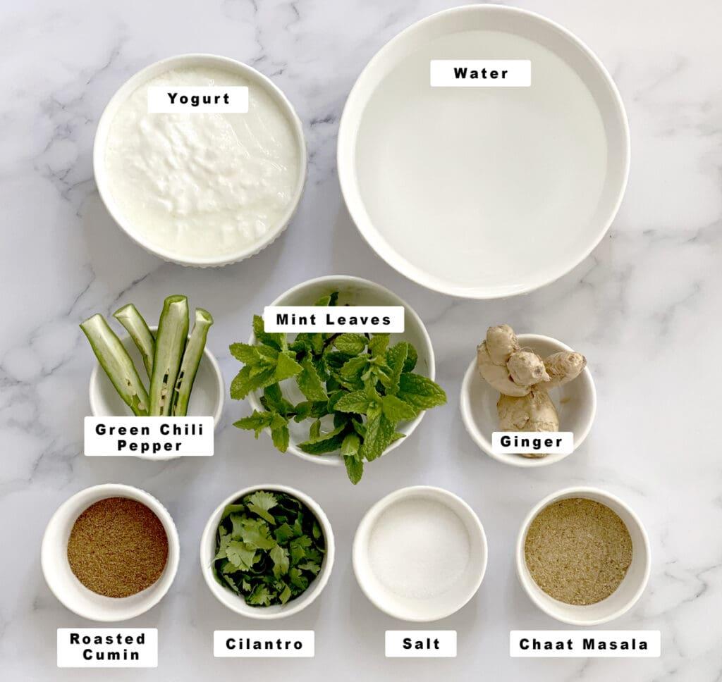Masala Chaas Ingredients