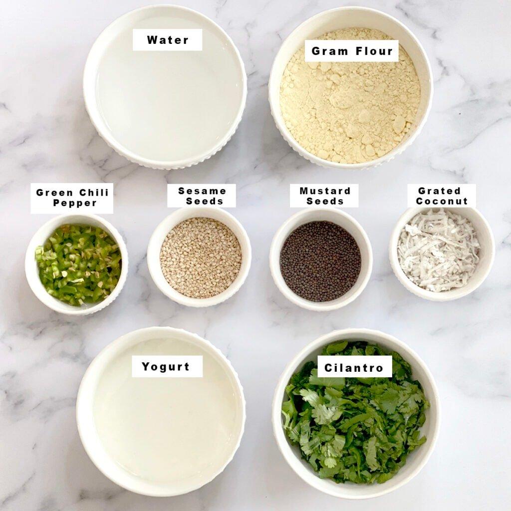 Khandvi ingredients