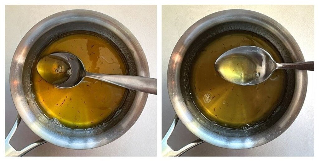 sugar syrup with saffron
