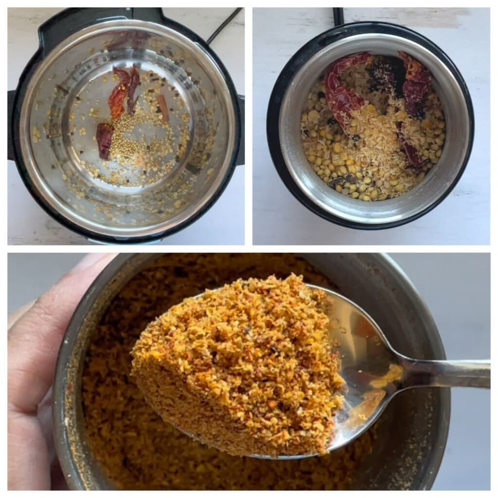 Dry roasting spices in the instant pot and grinding to make bisi bele bath powder