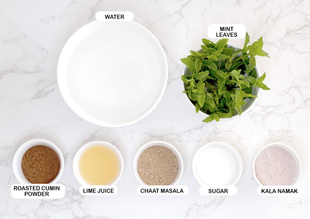Ingredients for limbu pani
