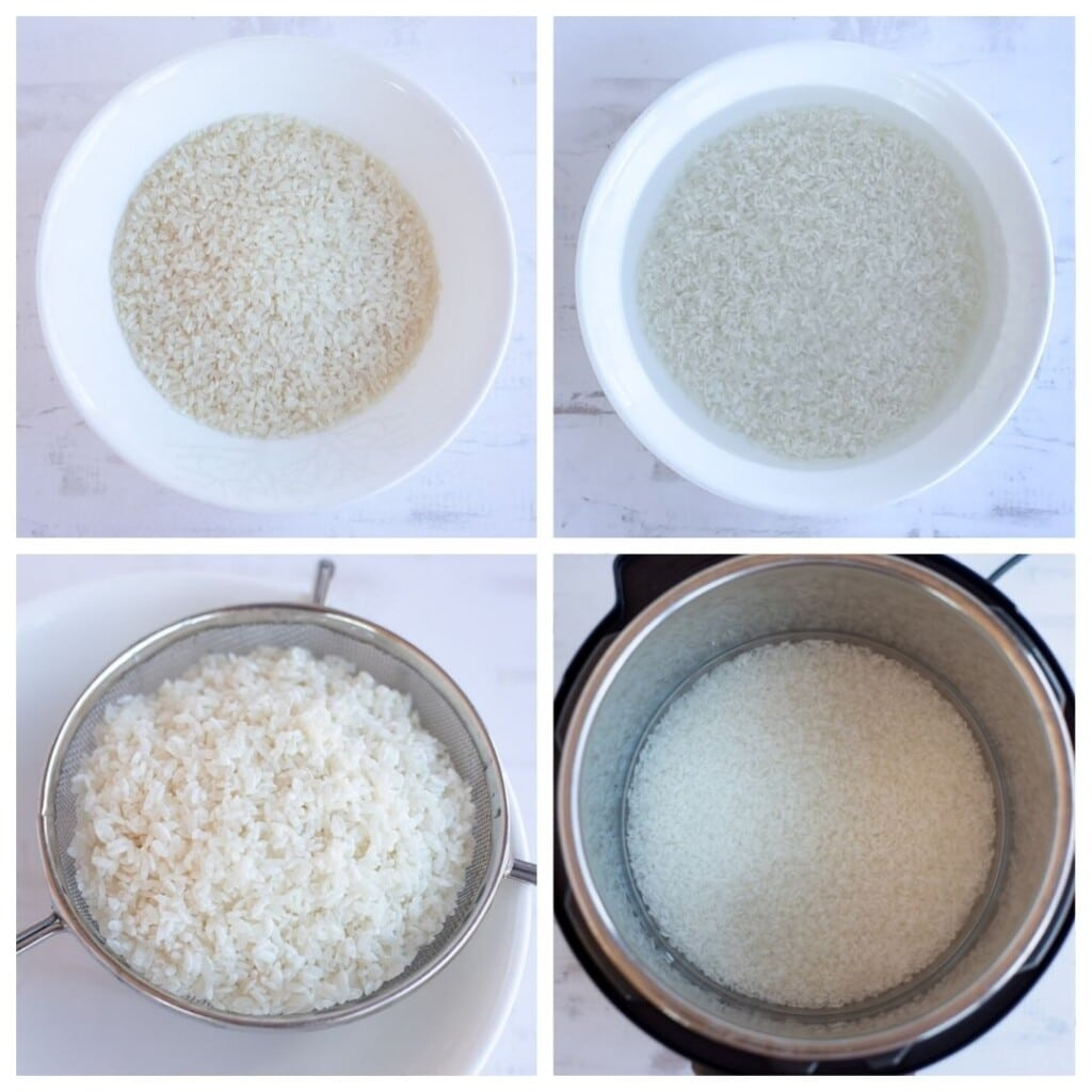 Steps to rinse and cook cal rose rice in the instant pot