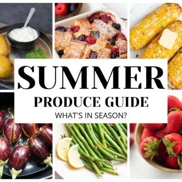 Summer fruits and vegetables guide