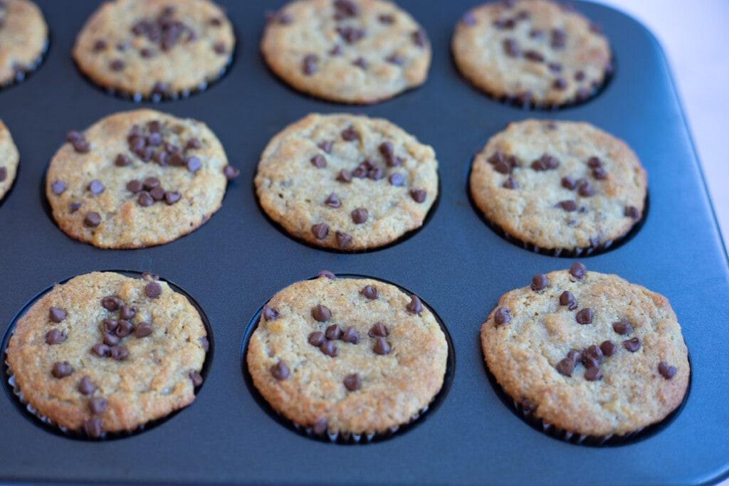 Wonderful baked banana almond flour muffins