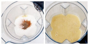 Blend raw mango pulp to make Aam Panna concentrate
