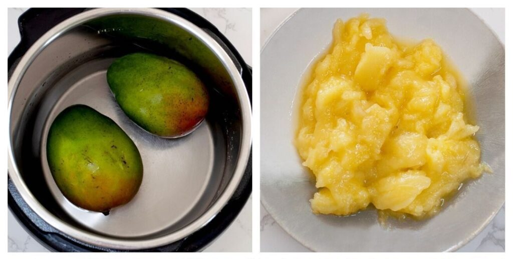 Cook raw mangoes in Instant pot