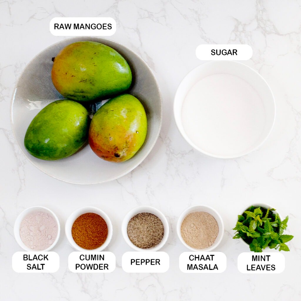 Ingredients you'll need for Aam Panna