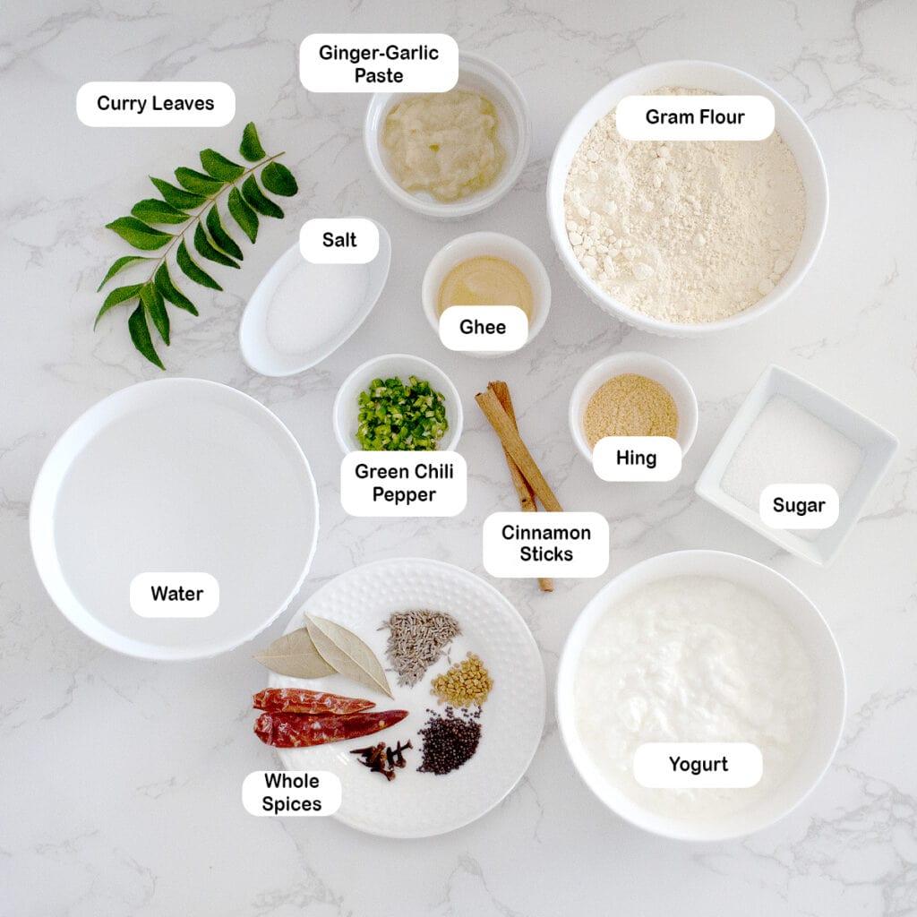 Ingredients for kadhi