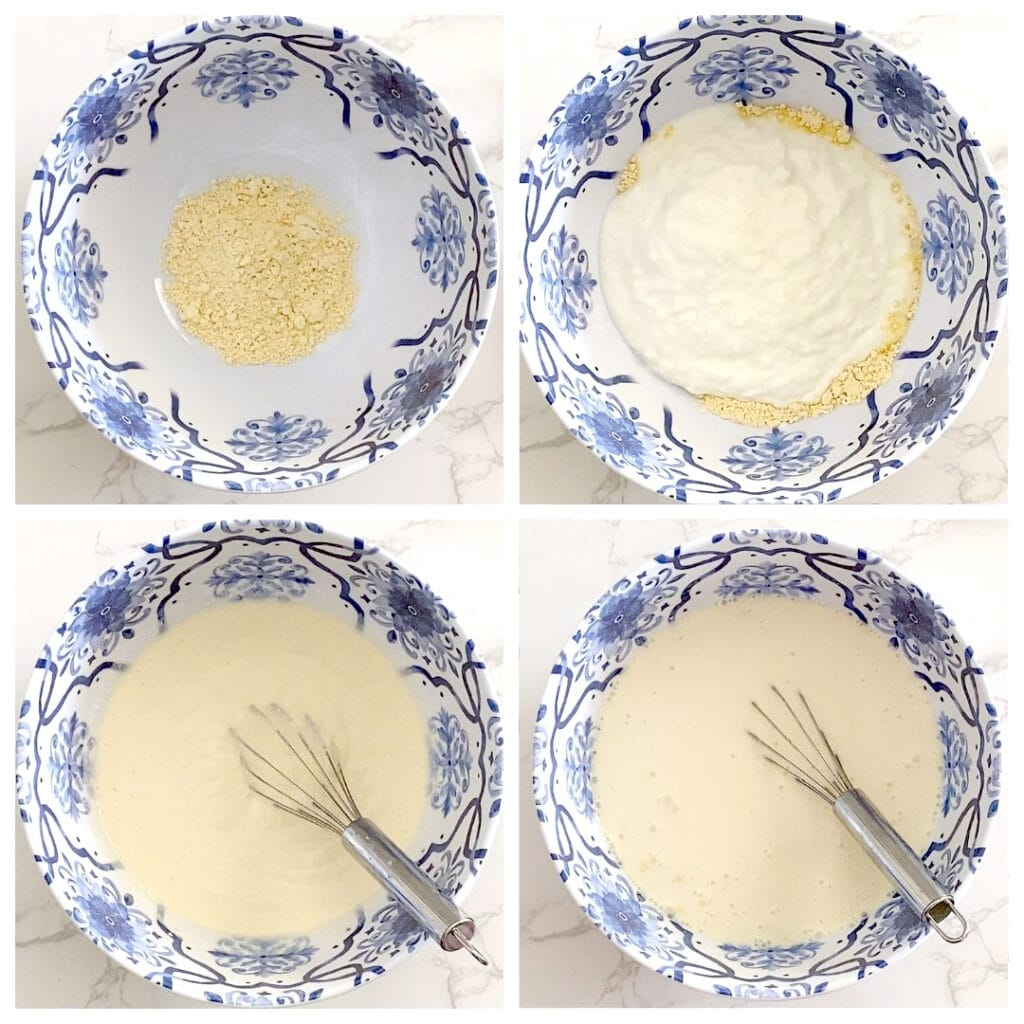 Yogurt, besan and water mixture for kadhi