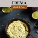 Creamy Avocado Cilantro Sauce