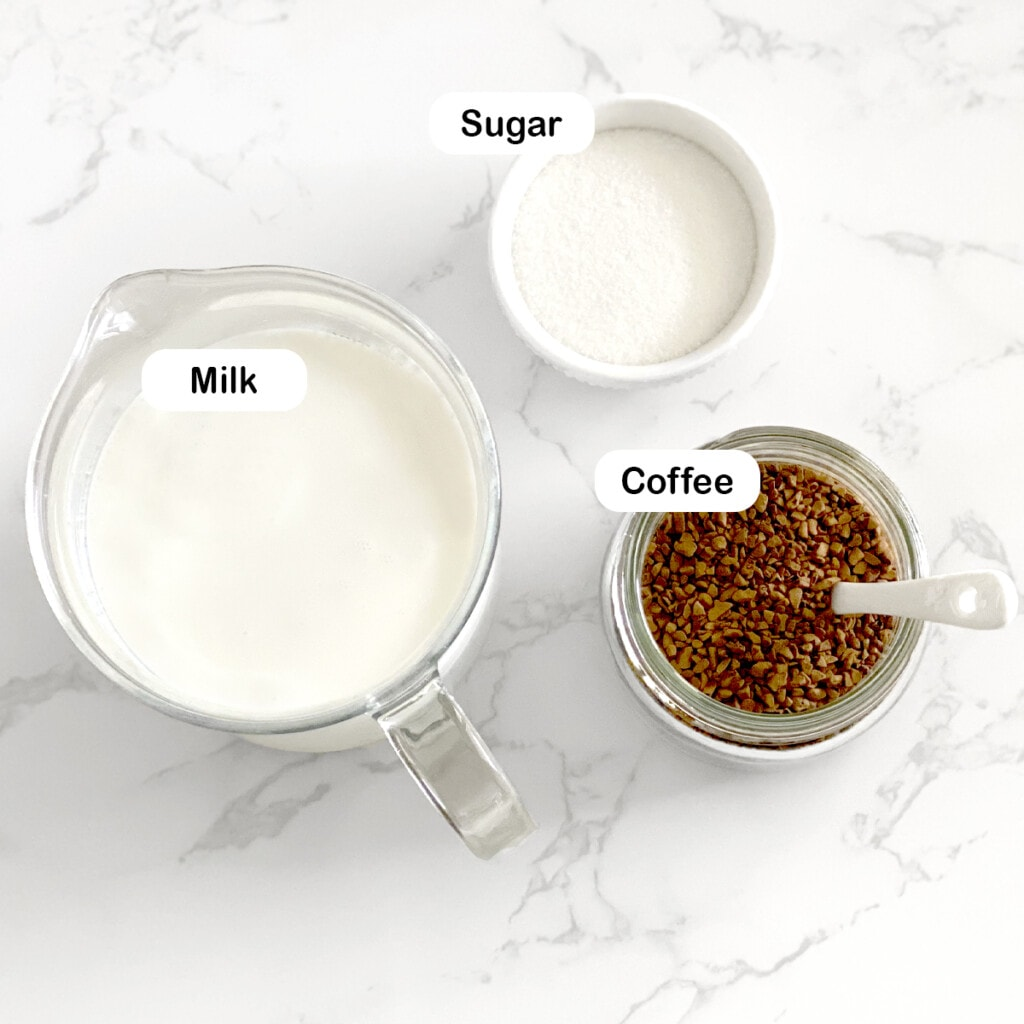 Ingredients you'll need to make coffee