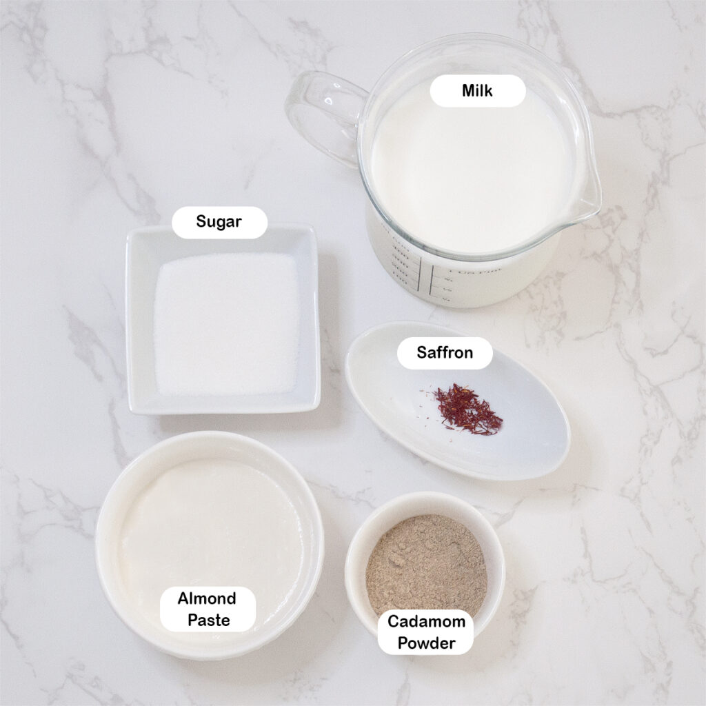 Ingredients you'll need for almond milk