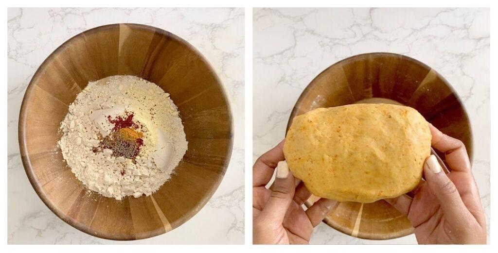 make dal dhokli dough