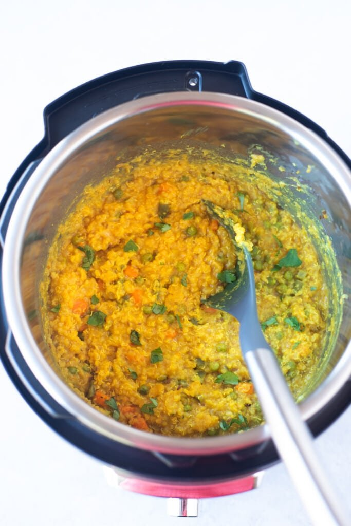 Quinoa khichdi in the instant pot