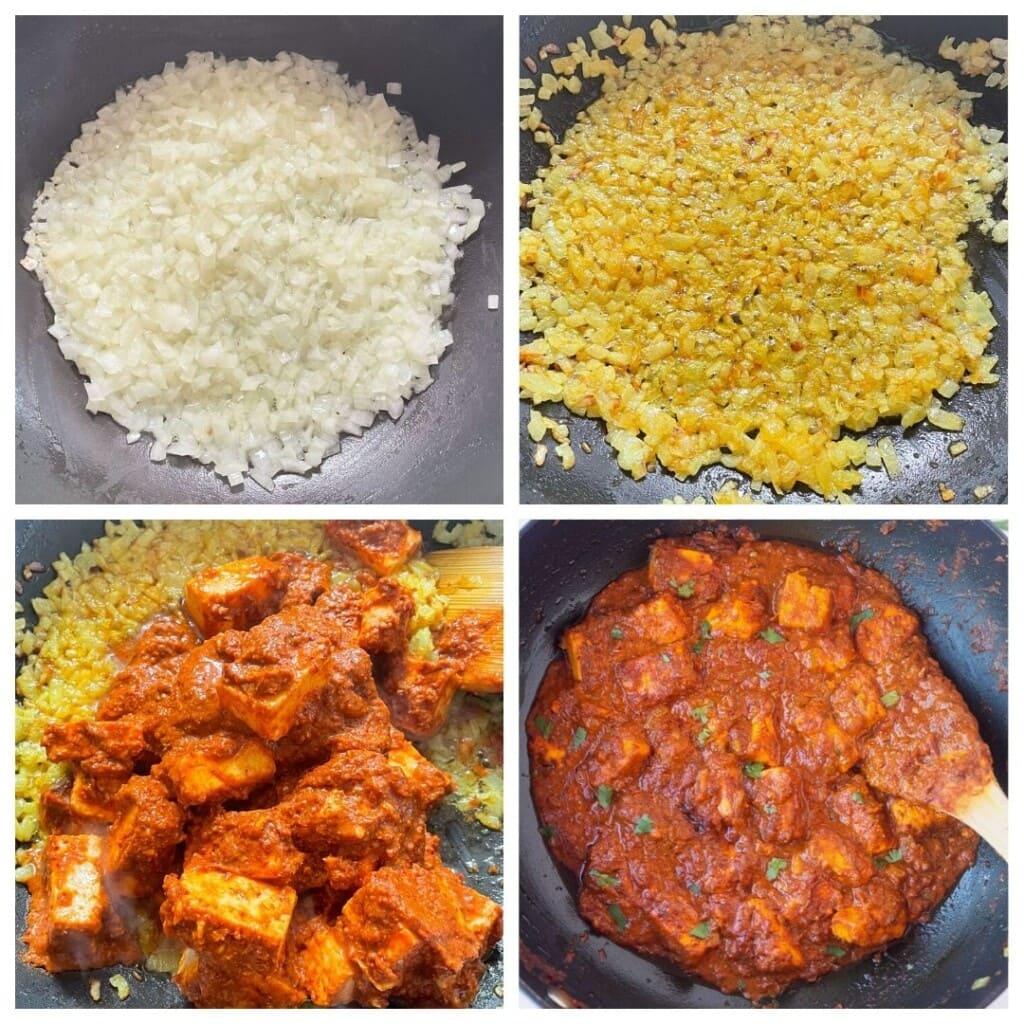 steps to make paneer vindaloo curry