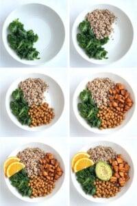 steps to make an easy vegan buddha bowl