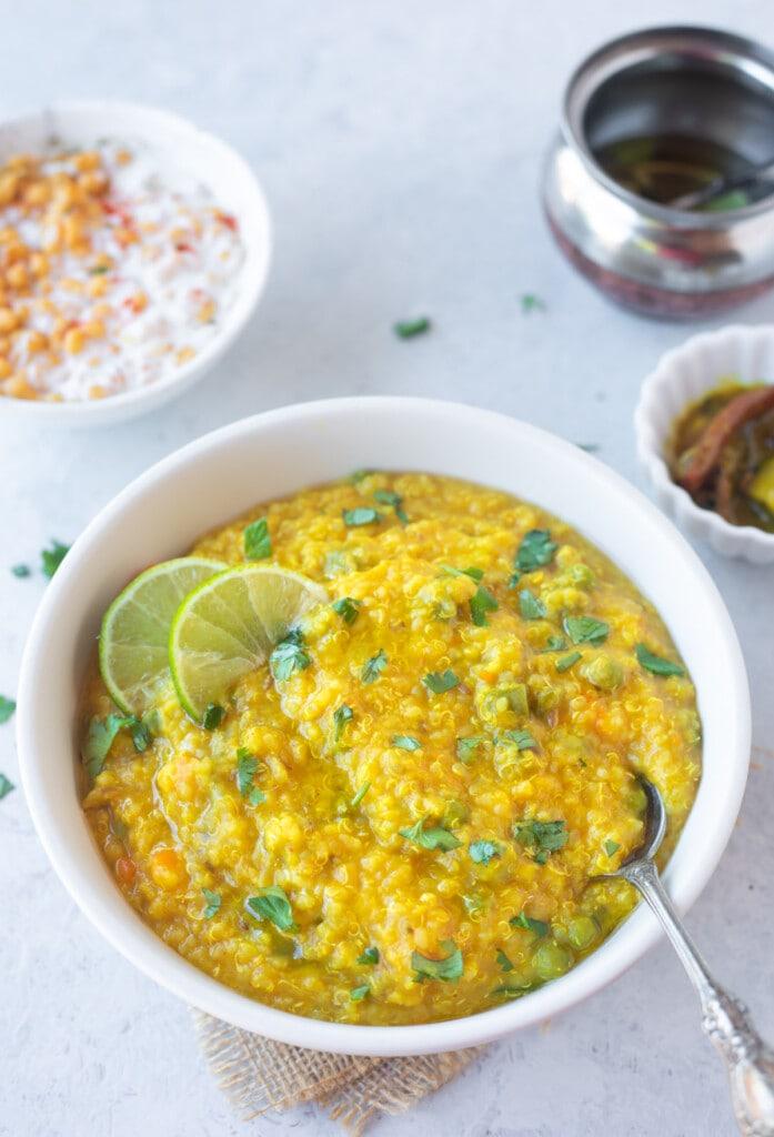 Quinoa Khichdi in a bowl