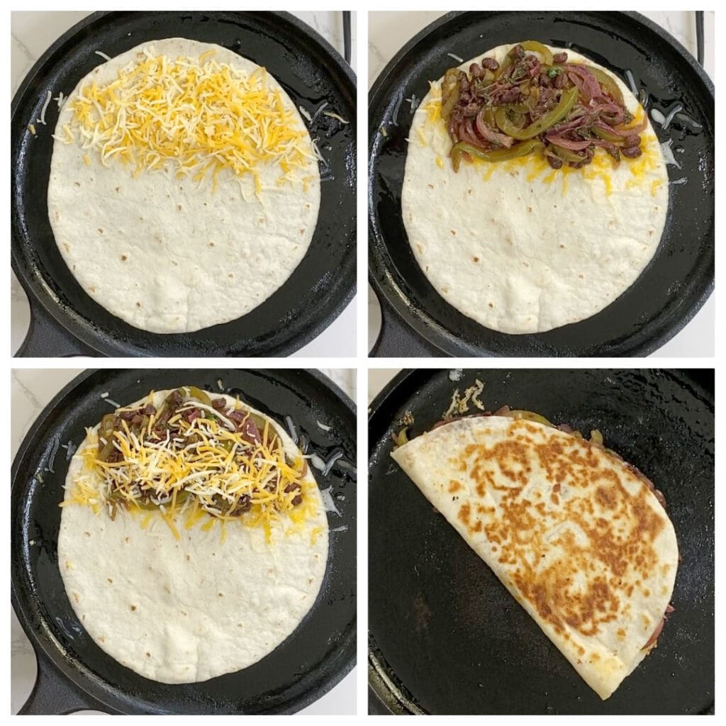 Steps to make quesadillas