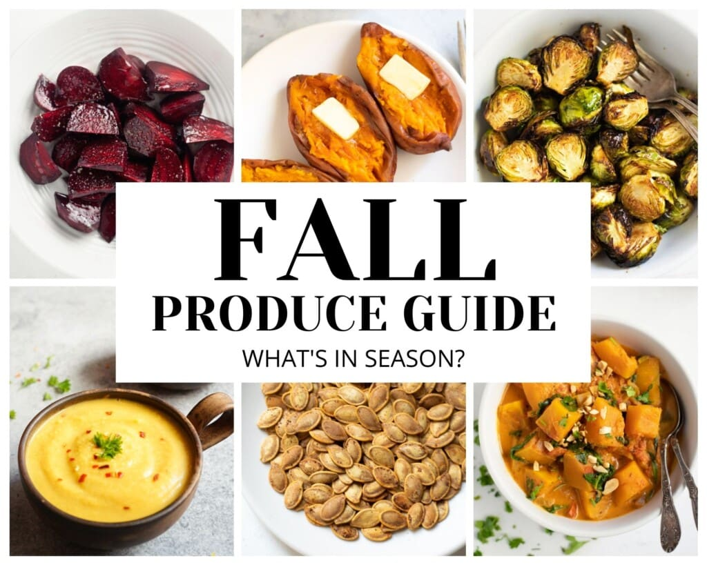 Fall produce guide collage